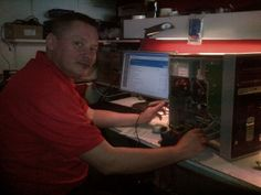 Meet Jerzy.  He's our engineer that repairs #iPad screens and games consoles such as #PSP #PS3 and #Xbox.