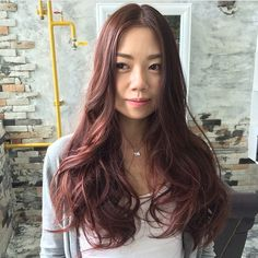 A soft pink brown hair color can enhance your natural radiance ✨ At Number76 Mid Valley.