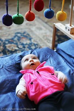 Mobiles and Mirrors are Some of the Favorite Parts of Montessori Baby Spaces