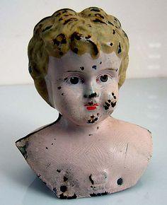 Tin German Juno Minerva Doll Head via Etsy