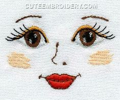 Image only - Crochet doll eyes embroidery