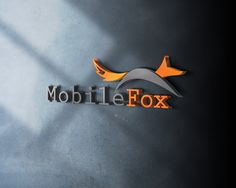 Mobile Fox Logo Design Mockup