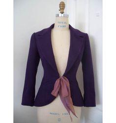 Front-tie Peplum Jacket