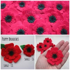 Poppy Brooch Felt, Christmas Felt Brooch, Remembrance Day Poppy Appeal Charity…