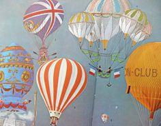 hot air balloons decor | Hot air balloon illustrations - vintage hot air balloon drawings ...