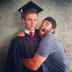 Logan graduated! I think Shay is more excited....maybe too excited!