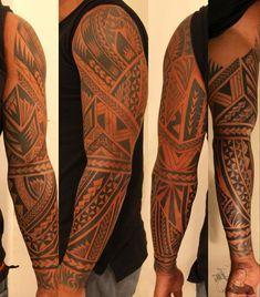 Maori Style Tattoo - 50+ Cool Sleeve Tattoo Designs