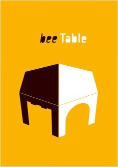 Un BeeTable è un tavolo per bambini a forma di trapezio,  è un tavolo modulare per lo spazio bimbi,  è un gioco per lo spazio bimbi,  È una casa, una porta, un castello e un ponte.    TantiBeeTable creano differenti spazi,  creano differenti relazioni tra i bambini,  creano differenti relazioni tra bambino e adulto,  creano differenti spazi e percorsi da esplorare,  creano l'ambiente adatto per attività collettive,  per attività individuali,  per la lettura e per l'ascolto.