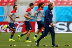 Coach Jurgen Klinsmann (right) and his players are in lockstep regarding Thursday's game: They want to win, period. Photo by Kevin C. Cox/Ge...