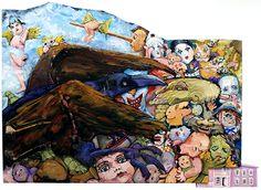 "Acrylic on plywood / Acrylique sur contreplaqué - 31"" x 45"" / 79 x 114 cm (irregular format / format irrégulier) Acrylic Paintings, Art, Art Background, Kunst, Gcse Art, Art Education Resources, Artworks"
