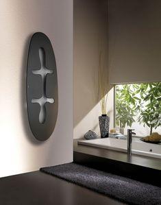 vertikal montierter Design-Heizkörper in schwarz Jungle von Mariano Moroni