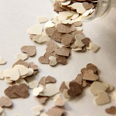 Neutral Wedding Table Decor Wedding Confetti Rustic by 42Things