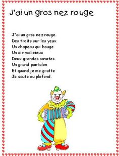 Cirque - lesptitsbricoleurss jimdo page! French Poems, French Classroom, Finger Plays, Circus Party, Music For Kids, Fun Activities For Kids, Learn French, Mardi Gras, Preschool