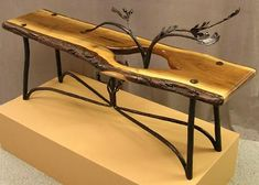 Should Furniture Match Refferal: 3315440207 Metal Furniture, Handmade Furniture, Custom Furniture, Furniture Design, Cool Woodworking Projects, Woodworking Furniture, Wood Steel, Wood And Metal, Reclaimed Wood Art