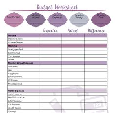Worksheet How To Budget Your Money Worksheet 1000 ideas about budgeting worksheets on pinterest tips budget binder and printable budget