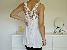 white crochet top from zara