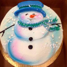 Christmas Cupcake Cake, Christmas Themed Cake, Christmas Cake Designs, Christmas Deserts, Christmas Cake Decorations, Christmas Cakes, Holiday Cakes, Christmas Baking, Cake Icing