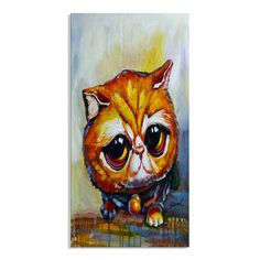 Kitty Looking for Love Canvas Wall Art Animal Print