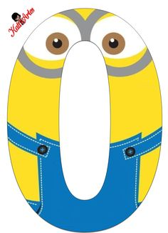 Typography - Minion Alphabet - Letter O Minion Craft, Minion 2, Minion Party, Minions 2014, Monogram Alphabet, Alphabet And Numbers, Minion Birthday Banner, Minion Classroom, Cartoon Pics