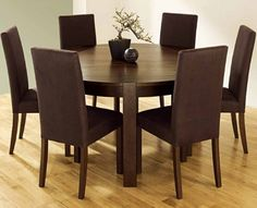 Round Dining Table For 6 Kitchen With Chairsawesome Brown Room Wooden