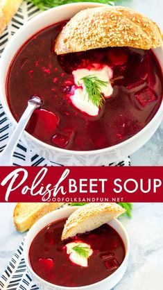 Polish Beet Soup Polish Beet Soup, Barszcz or Borscht, is an easy and delicious vegetable-packed soup that is bright in color and flavor! Your family will love this sweet and sour soup. Beet Recipes, Polish Recipes, Soup Recipes, Cooking Recipes, Polish Food, Polish Nails, Cleaning Recipes, 3d Nails, Vegetarian Food