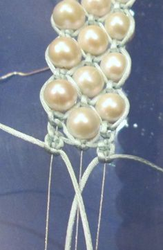 I just tried this and it turned out beautifully. My pearls were oblong but the pattern still looks great.
