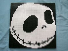 Jack Skellington Lego Mosaic.... Bet my lil bro can do this >:3