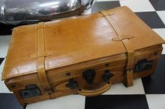 Nostalgischer Koffer Autokoffer Lederkoffer Oldtimer 60cm  super Zustand !