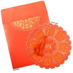 Traditional Hindu wedding cards are available in heart-warming patterns. Find the inherent quality of exclusive Hindu wedding invitations with personalized service at our website. #Wedding #Amazinginvitationcards
