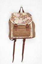 Kimchi Blue Floral & Corduroy Backpack  #UrbanOutfitters