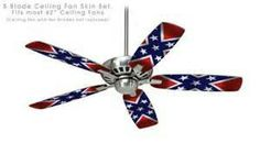 Awesome Rebel Flag Ceiling Fan