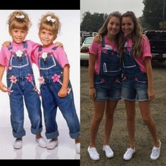 funny halloween costumes Mary-Kate and Ashley diy costume Cute Halloween Costumes For Teens, Twin Halloween, Best Friend Halloween Costumes, Halloween Ideas, Group Halloween, Spirit Halloween, Halloween Halloween, Twin Costumes, Cute Costumes