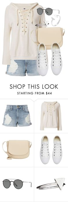 """""""Untitled #12263"""" by vany-alvarado ❤ liked on Polyvore featuring Frame, NSF, Mansur Gavriel, Converse, Ray-Ban and Rachel Jackson"""