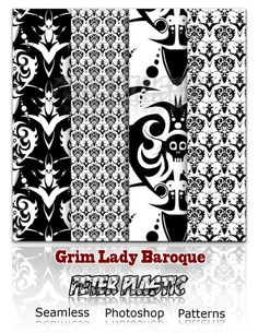Cool Grim Lady Baroque Patterns. Grim lady Baroque Patterns for photoshop. For commercial use please drop me a mail at contact@peterplastic.net  #baroque #Damask #grim #Lady #pattern #patterns #peterplastic #shapes #vintage Check more at http://psdfinder.com/patterns/grim-lady-baroque-patterns