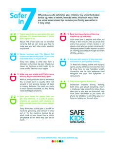Safer in 7 | Safe Kids Worldwide | Baby Safe Homes | safety tips | kids safety | child safety