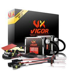 Docooler Car Xenon HID Replacement Digital DC Ballast Ultra Slim All Light Bulbs Fit 12V 55W