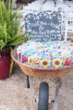 Wildflower-Seed Wedding Favors