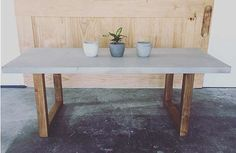 Our new Blocks Dining Table - polished concrete top w/ solid timber frame. Great for indoor or outdoor dining ••••••••••••••••••••••••…