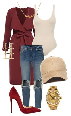 """Untitled #1"" by anigelb ❤ liked on Polyvore featuring New Era, Christian Louboutin and Rolex"