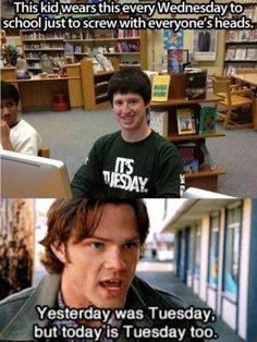 "14 'Supernatural' Memes That Only The Superfans Will Get - Funny memes that ""GET IT"" and want you to too. Get the latest funniest memes and keep up what is going on in the meme-o-sphere. Supernatural Imagines, Wallpapers Supernatural, Tumblr Supernatural, Funny Supernatural Memes, Spn Memes, Supernatural Bloopers, Supernatural Tattoo, Supernatural Gag Reel, Supernatural Interview"