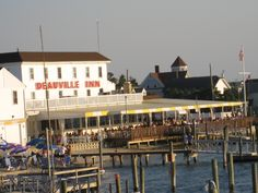 The Deauville Inn, in Strathmere,NJ..a little further south from Ocean City,NJ.....Great place for Happy Hour on the water