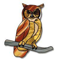 Free Pattern, Screech Owl #StainedGlassOwl