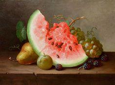 """ღღ Paul LaCroix, """"Still Life with Fruit"""", 1864"""