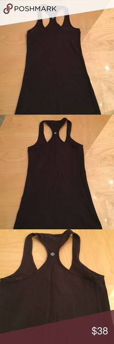Lululemon dark brown cool racerback size 4 RARE It's rare lululemon ever comes out with brown! Like new. Worn once. lululemon athletica Tops Tank Tops