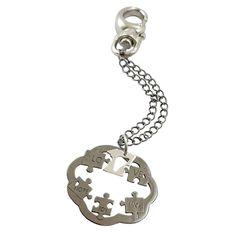 Κλειδοθήκη Γούρι 2017 Παζλ Μαύρο Επιπλατινωμένο ΓΟ5080,new year charms 2017,κλειδοθήκη γούρι 2017 παζλ μαύρο επιπλατινωμένο ΓΟ5080,γουρια 2017,γουρι 2017, Charmed, Bracelets, Silver, Jewelry, Fashion, Charm Bracelets, Moda, Bijoux, Bracelet
