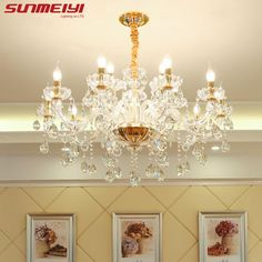 Self-Conscious European Led Fashion Atmosphere K9 Crystal Chandelier Restaurant Lamp Room Lamp Bedroom Lamp Mystery Lamp Pendant Lights