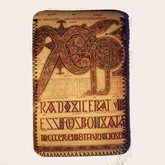 Lindisfarne Gospels Kindle Sleeve by GelertDesign on Etsy, £8.00