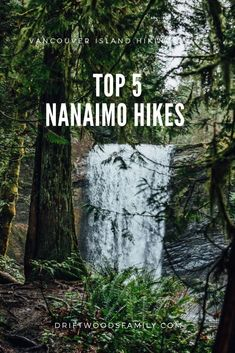 Top 5 Nanaimo Hikes - The Driftwoods Family Top 5 Nanaimo Hikes: Explore the many outdoor spaces in and around Nanaimo, BC. From storm watching to coastal rainforest waterfalls, this list has something for everyone Victoria Vancouver Island, West Coast Trail, Forest Trail, Pacific Northwest, Pacific West, Pacific Rim, Canada Travel, Columbia Travel, San Juan