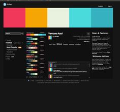This thing is awesome. If you work on web design and haven't used it you are missing out!  Kuler | Tool for creating web color palettes we like http://kuler.adobe.com