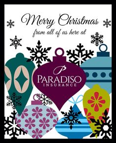 Merry Christmas from all of us here at Paradiso Insurance #insurance